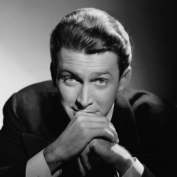 Black and White Photo of Jimmy Stewart